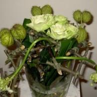 bloemstuk met houtframe
