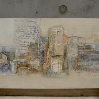 abstract met diverse mediums/structuren