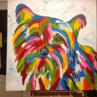 abstracte hond