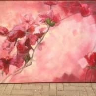 rose abstract schilderij