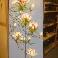 magnolia op hout