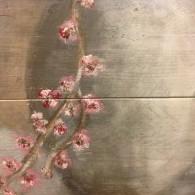 detail kruik met bloemetjes