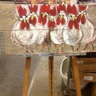 gezellige kippen