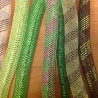 tubes groen met goud, zwart paars