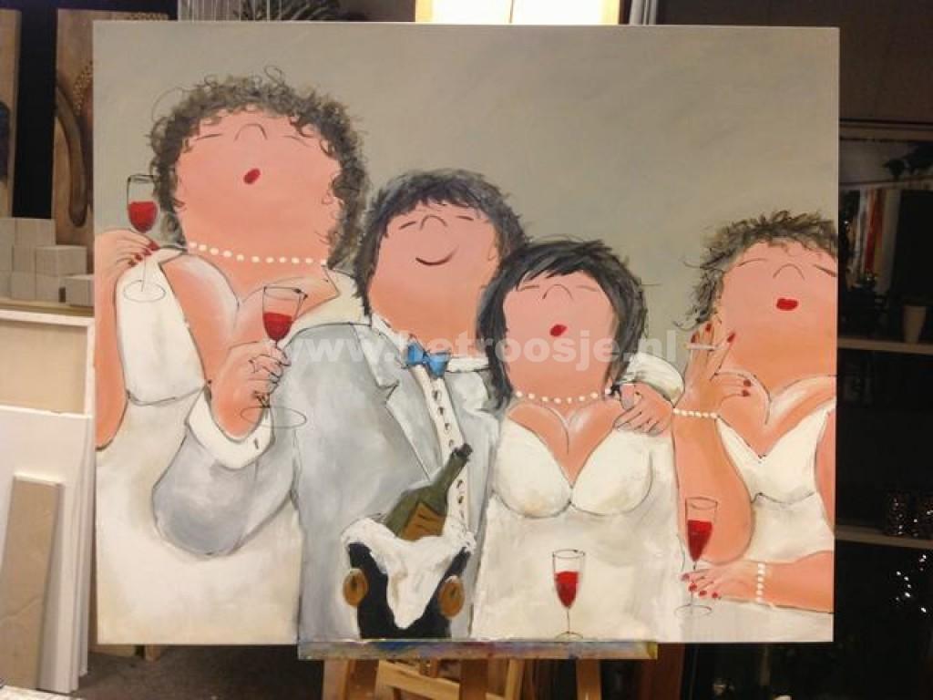 Bloemstyling 39 t roosje cursus schilderen for Dikke dames schilderen