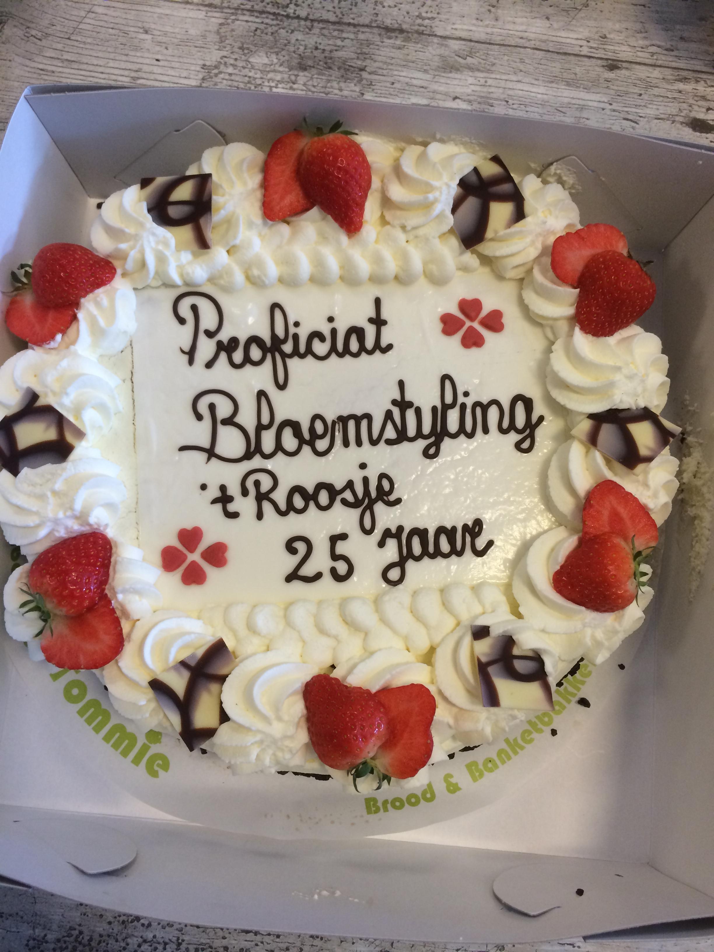 Geweldige taart die ik kreeg met ons jubileum! Wat heb ik toch een fijne medewerkers